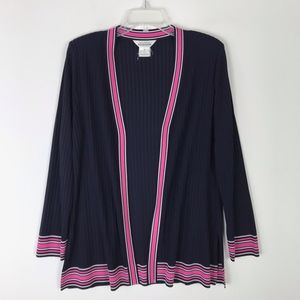 Exclusively Misook Open Front Knit Jacket #15